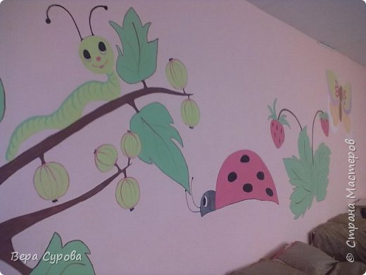 Вот так мы украсили стены спальной комнаты нашей дошкольной группы. фото 1