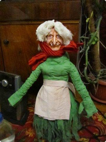 Баба Яга сделана на заказ- высота 60 см! Цвет одежды пожелание заказчика! фото 10