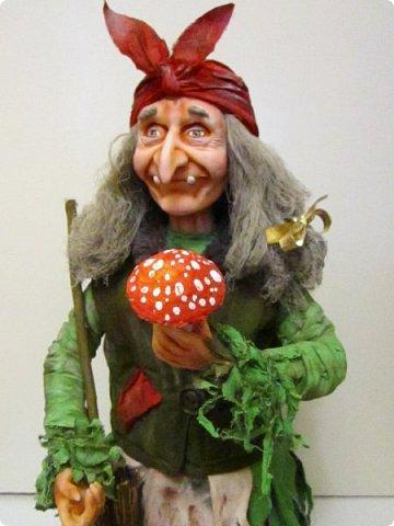 Баба Яга сделана на заказ- высота 60 см! Цвет одежды пожелание заказчика! фото 14