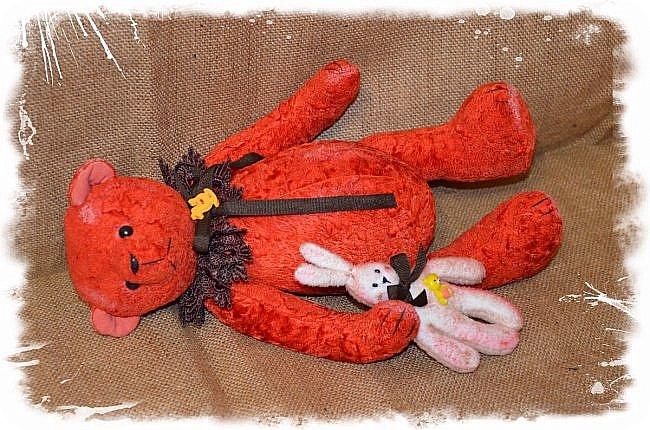 Всем Привет! Сшились у меня Два Мишки!Сшиты оба из Советского Плюша!Встречайте- Мишка-Захар! Рост 37 см, Руки, Ноги и Голова на Шплинтах-Подвижны! Такой он Красавчик, Очень я Довольна им!))) фото 8