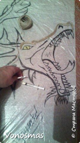 всем салют!!! это дракон из джутового шпагата. И немного пошаговых фото. фото 2