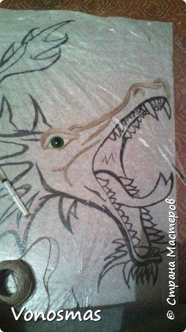 всем салют!!! это дракон из джутового шпагата. И немного пошаговых фото. фото 3