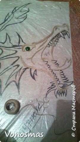 всем салют!!! это дракон из джутового шпагата. И немного пошаговых фото. фото 4