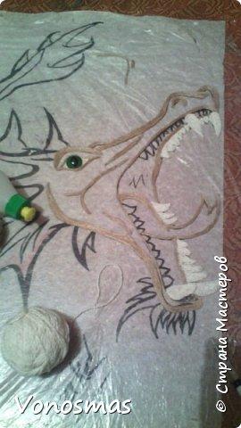 всем салют!!! это дракон из джутового шпагата. И немного пошаговых фото. фото 5