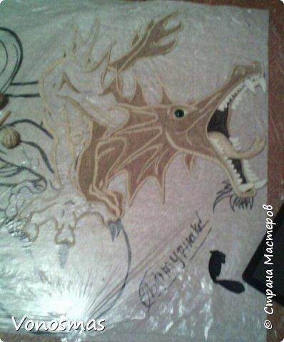 всем салют!!! это дракон из джутового шпагата. И немного пошаговых фото. фото 11