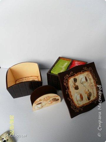 Конфетница, подставка для салфеток, чайная шкатулка. фото 2