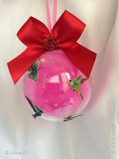 Приветствую всех жителей Страны Мастеров! Я к вам с новыми шарами. Продолжаю подготовку к Новому году. Шары пластик, разъемные.Обратный декупаж. фото 15
