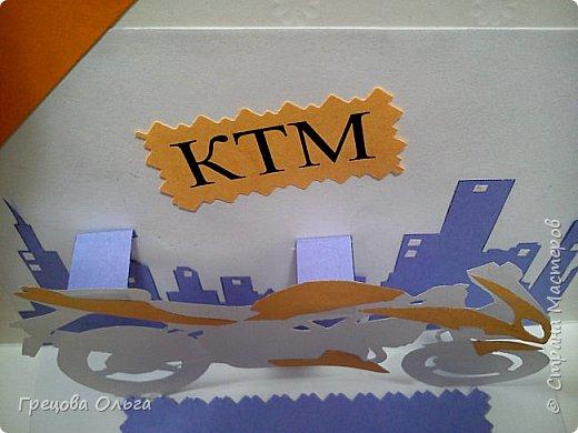 Мужская открытка с мотоциклом фото 4