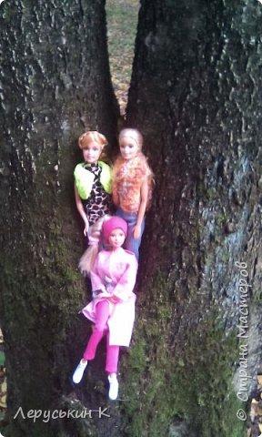 Всем привет. Сегодня мы всей  семьёй приехали в лес. Ну и кукол взяли. Они очень здорово отдохнули. Сейчас я вам всё покажу. фото 9