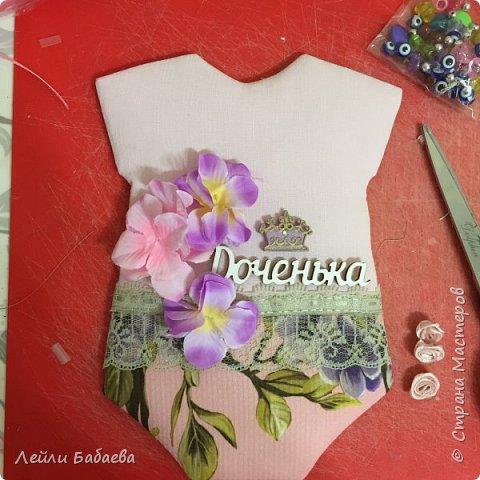 Альбом для девочки с мягкой тканевой обложкой. Выполнен в стиле скрапбукинг. Размер 20х17 см, 8 разворотов. фото 7