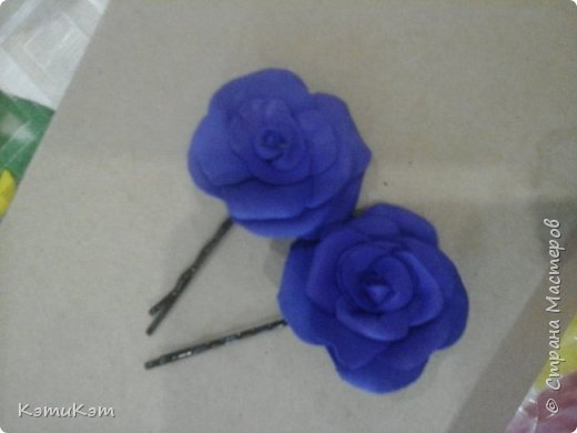 Невидимочки с розами из фоамирана фото 2