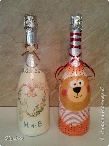 Свадебные бутылки фото 3