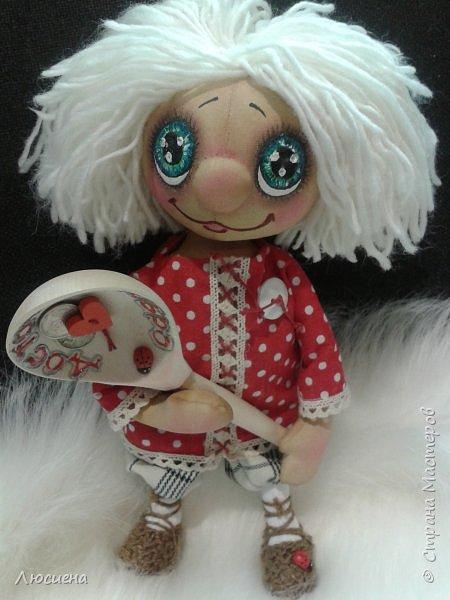 Чердачная кукла ручной работы домовенок КУЗЯ фото 1