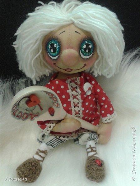 Чердачная кукла ручной работы домовенок КУЗЯ фото 2