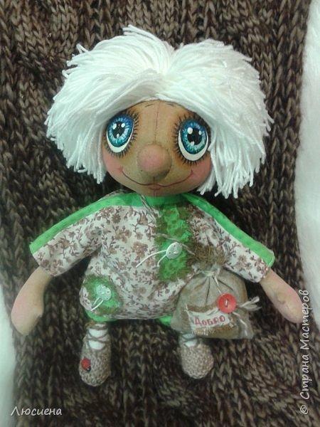 Чердачная кукла ручной работы домовенок КУЗЯ фото 3