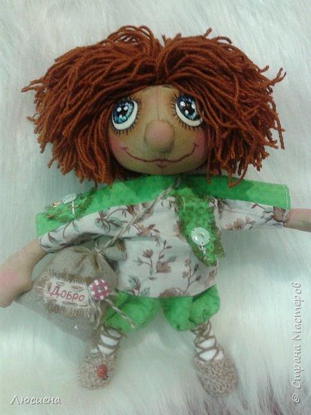 Чердачная кукла ручной работы домовенок КУЗЯ фото 4
