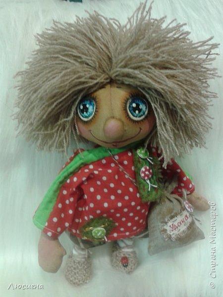 Чердачная кукла ручной работы домовенок КУЗЯ фото 5