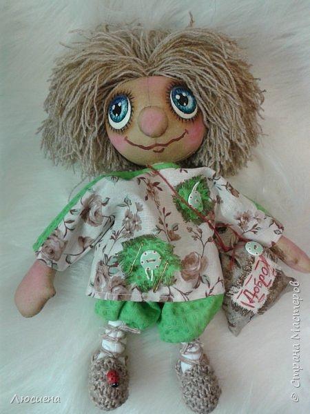 Чердачная кукла ручной работы домовенок КУЗЯ фото 7