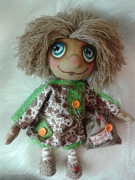 Чердачная кукла ручной работы домовенок КУЗЯ фото 8