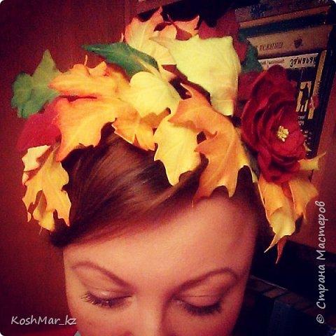 Ободок Осенний поцелуй (+поясок к платью) фото 4