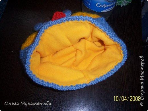 Вот такие шапочки я связала детям так как мы очень любим мультфильм МИНЬОНЫ выбор был небольшой. фото 6