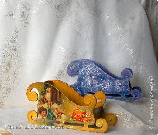 Маленькие сани-конфетницы фото 1