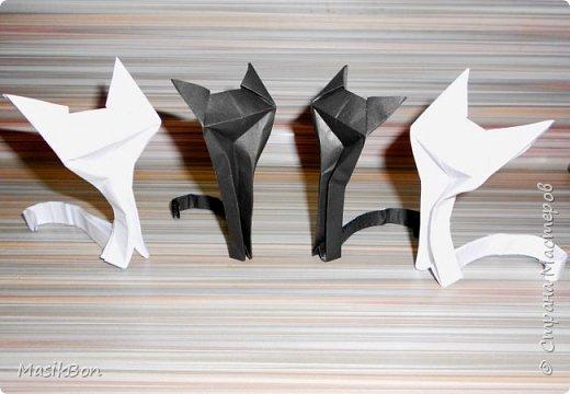 Кошка из бумаги. Оригами