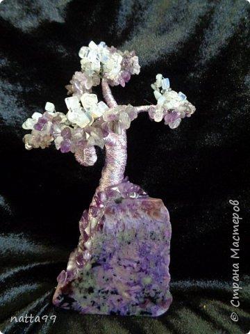дерево из аметиста на чароите