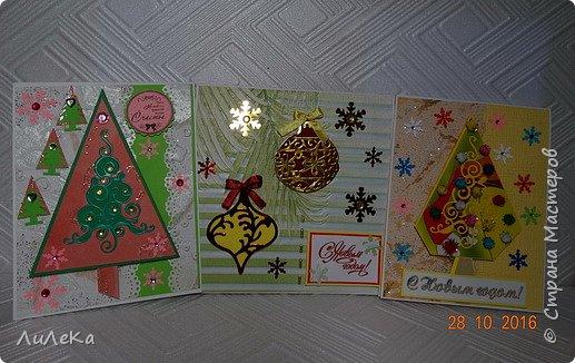 Небольшая партия новогодних открыток с использованием готовых вырубок. фото 1