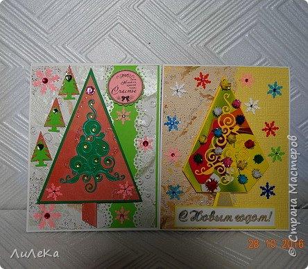Небольшая партия новогодних открыток с использованием готовых вырубок. фото 6