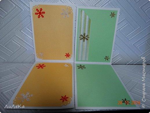 Небольшая партия новогодних открыток с использованием готовых вырубок. фото 11