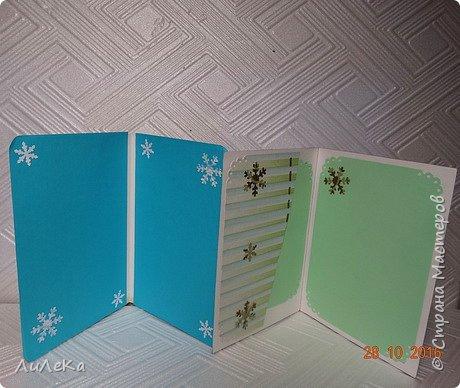 Небольшая партия новогодних открыток с использованием готовых вырубок. фото 15