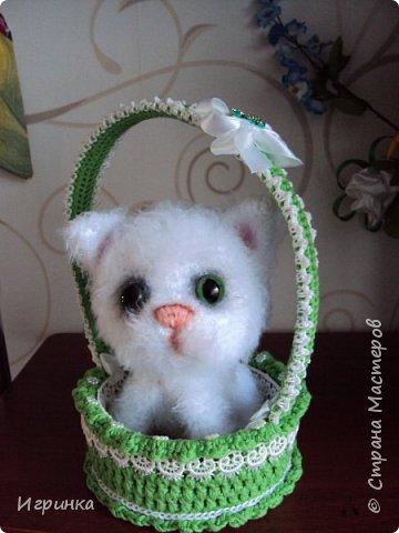 """""""А у нас сегодня кошка родила вчера котят..."""" Здравствуйте дорогие мастера и мастерицы. Лучший отдых для меня - это вязание игрушек. И в последнее время нашло на меня кошачье настроение. Посмотрите, что у меня народилось фото 7"""