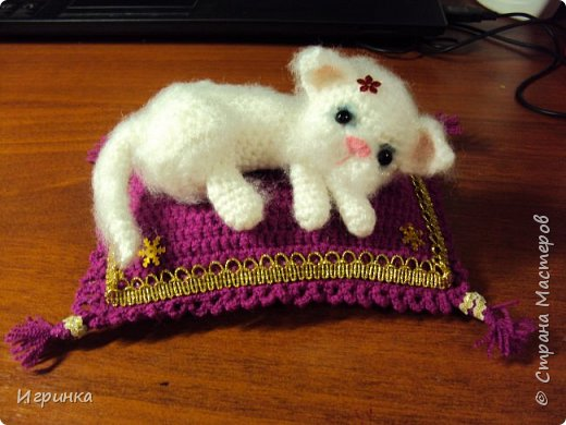 """""""А у нас сегодня кошка родила вчера котят..."""" Здравствуйте дорогие мастера и мастерицы. Лучший отдых для меня - это вязание игрушек. И в последнее время нашло на меня кошачье настроение. Посмотрите, что у меня народилось фото 11"""