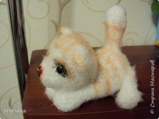 """""""А у нас сегодня кошка родила вчера котят..."""" Здравствуйте дорогие мастера и мастерицы. Лучший отдых для меня - это вязание игрушек. И в последнее время нашло на меня кошачье настроение. Посмотрите, что у меня народилось фото 9"""