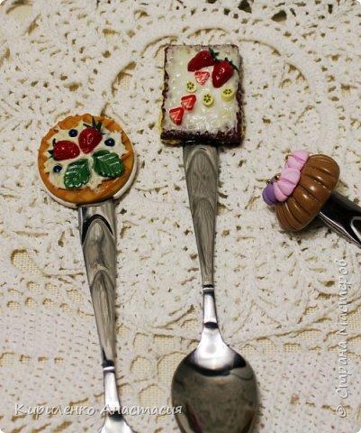 """Мои пробные работы из пластики. Вот такие """"вкусные ложечки"""" . Были сделаны на заказ, заодно и познакомилась с такой техникой. Почему вкусные наверное понимаете. Оказывается , они еще и безопасные. Даже для малышей. фото 3"""