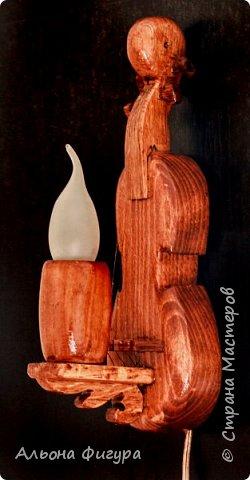 Деревянные светильники ручной работы фото 1