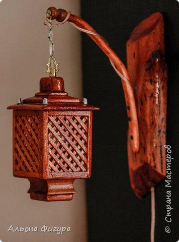 Деревянные светильники ручной работы фото 4