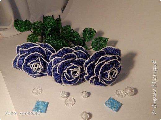 Начну с роз. Розы выполнены на совместном плетении под руководством Маины Азизовой. фото 4