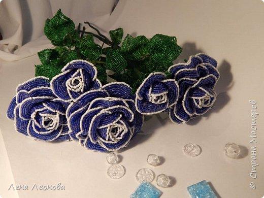 Начну с роз. Розы выполнены на совместном плетении под руководством Маины Азизовой. фото 2