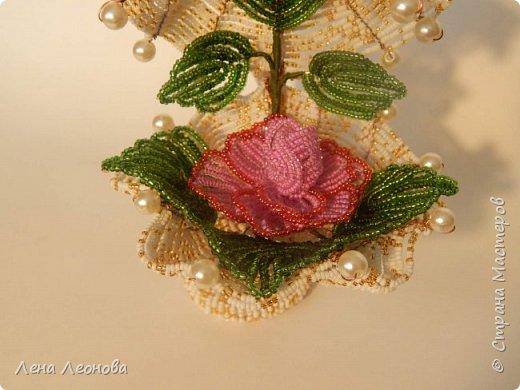 Начну с роз. Розы выполнены на совместном плетении под руководством Маины Азизовой. фото 10