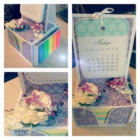 Календарь и блок для записей. Отличный подарок для коллег на работе.  фото 3