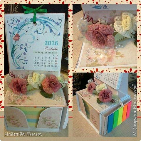 Календарь и блок для записей. Отличный подарок для коллег на работе.  фото 4