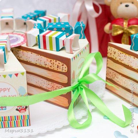 Торт из бумаги с пожеланиями на день рождения своими руками фото 3