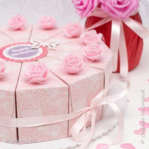 Торт из бумаги с пожеланиями на день рождения своими руками фото 4