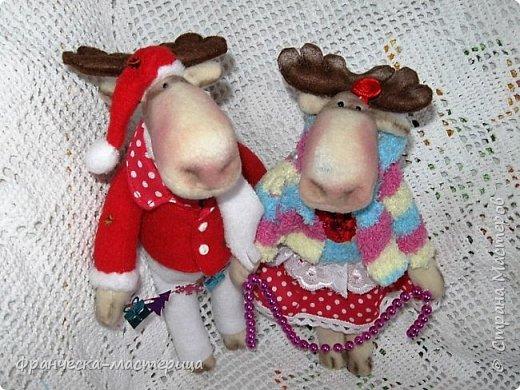 Здравствуйте, дорогие жители СМ!!! Я продолжаю готовиться к празднику и нашила немного лосиков. Выкройка из инета. Простейшая. Шила из флиса. фото 3