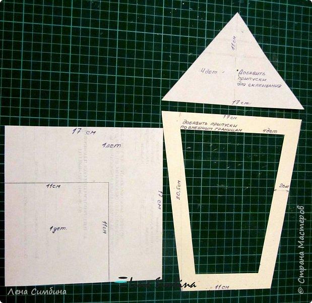 Фонарь из картона, в два слоя, с подсветкой, куклы из фома и мешковины. фото 4