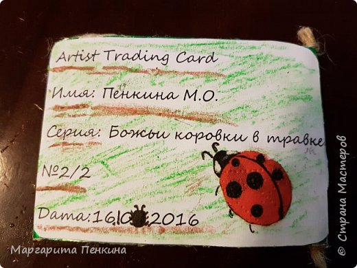 """Сегодня я хочу показать карточки АТС """"Божьи коровки в травке"""". Одну карточку оставлю себе. Есть приглашённая-Даша (ёжик из мира миниатюры). Выбирайте после неё. При БОЛЬШОМ желании(и ХОРОШИХ карточках) можно повторить. 1-Оставлю себе 2-ёжик из мира миниатюры  фото 11"""