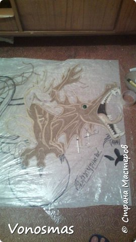 всем салют!!! это дракон из джутового шпагата. И немного пошаговых фото. фото 13