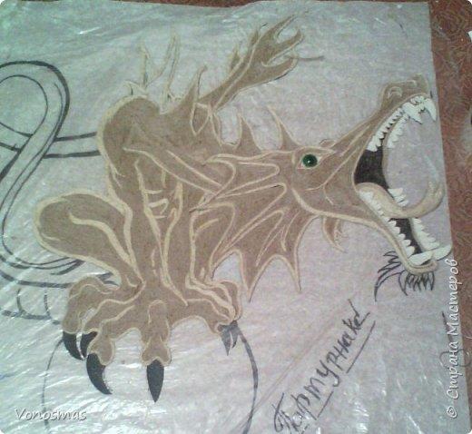 всем салют!!! это дракон из джутового шпагата. И немного пошаговых фото. фото 17